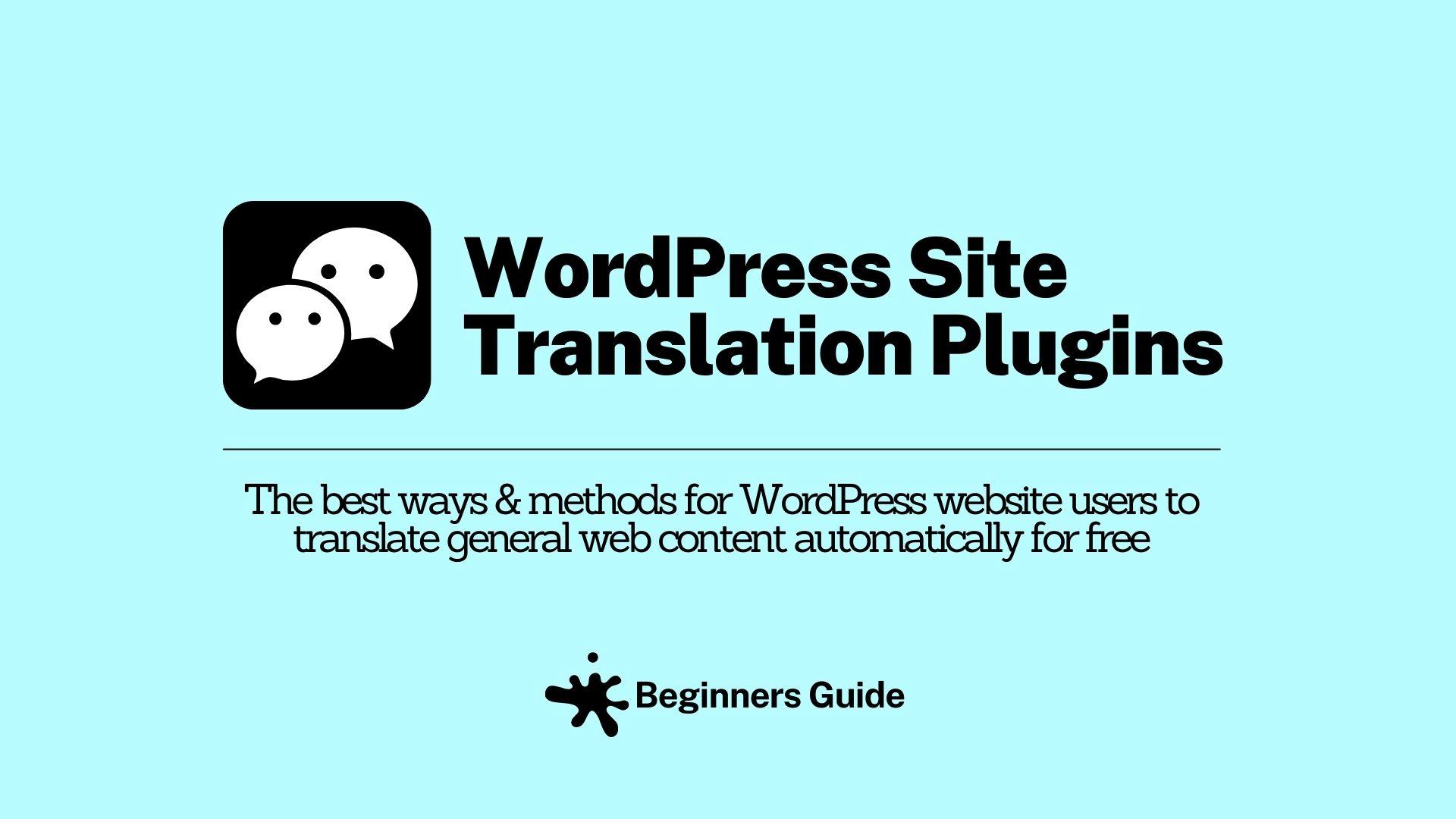 What Are WordPress Translation Plugins?