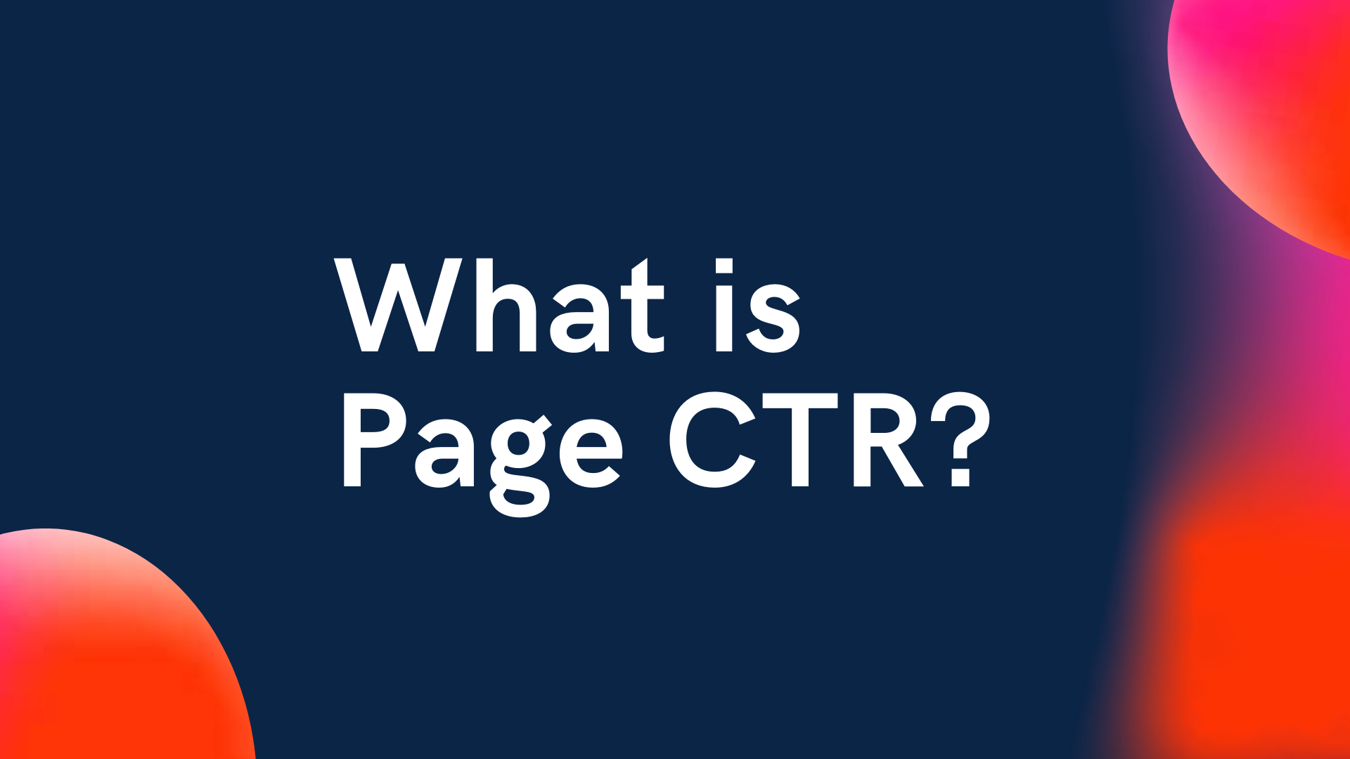 Page CTR