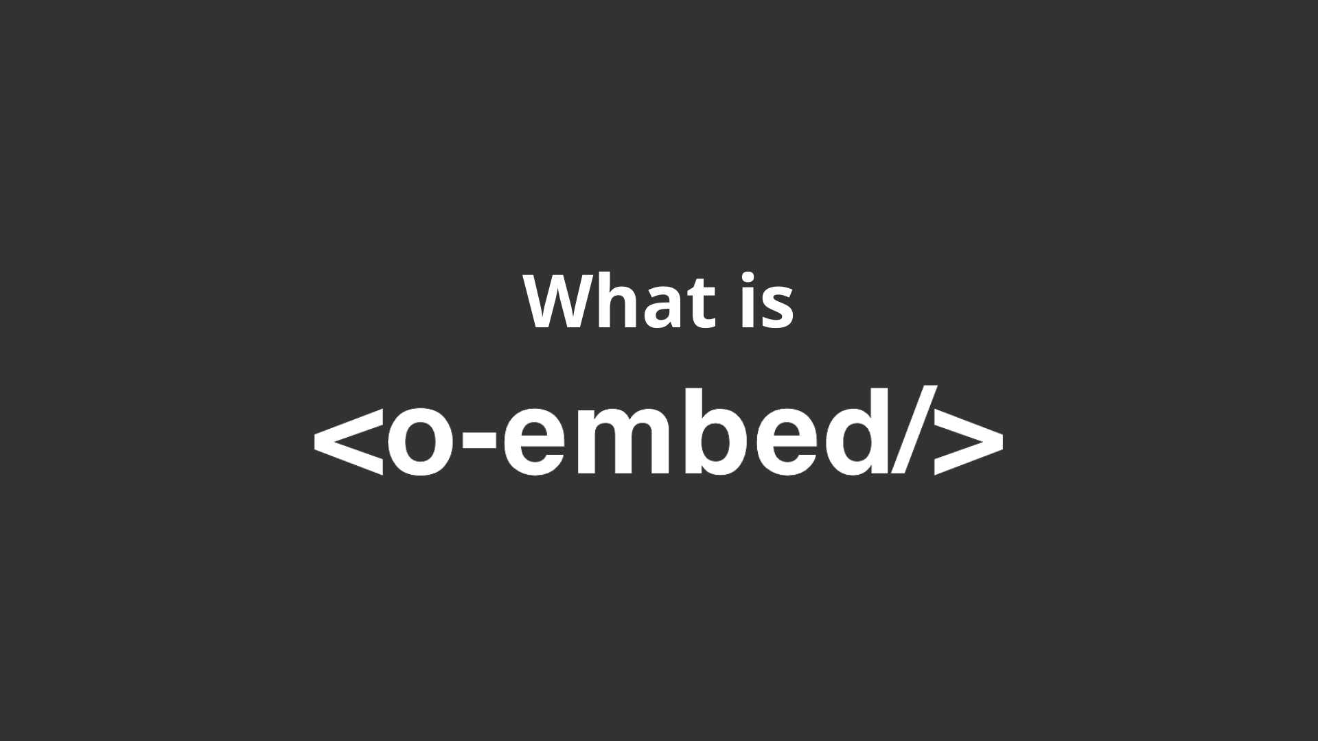 oEmbed