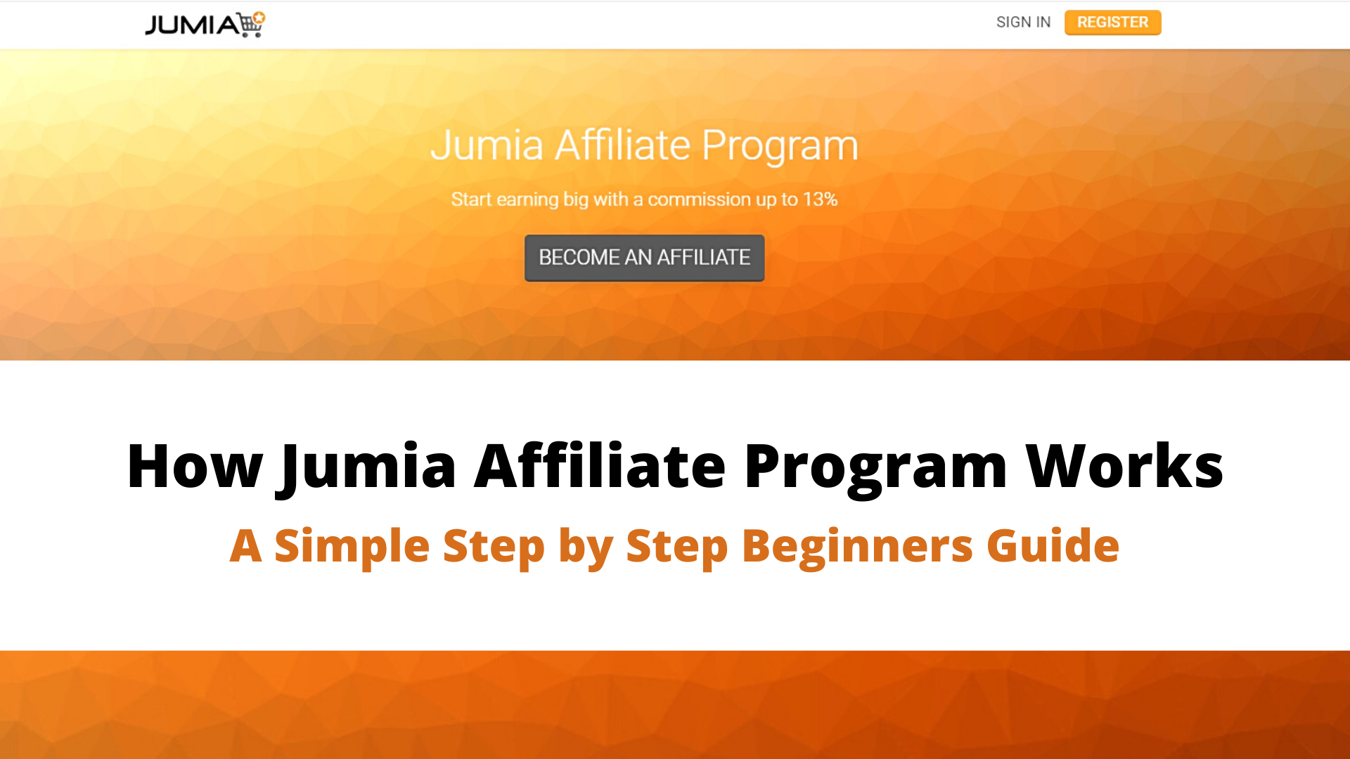 How Jumia Affiliate Program Works