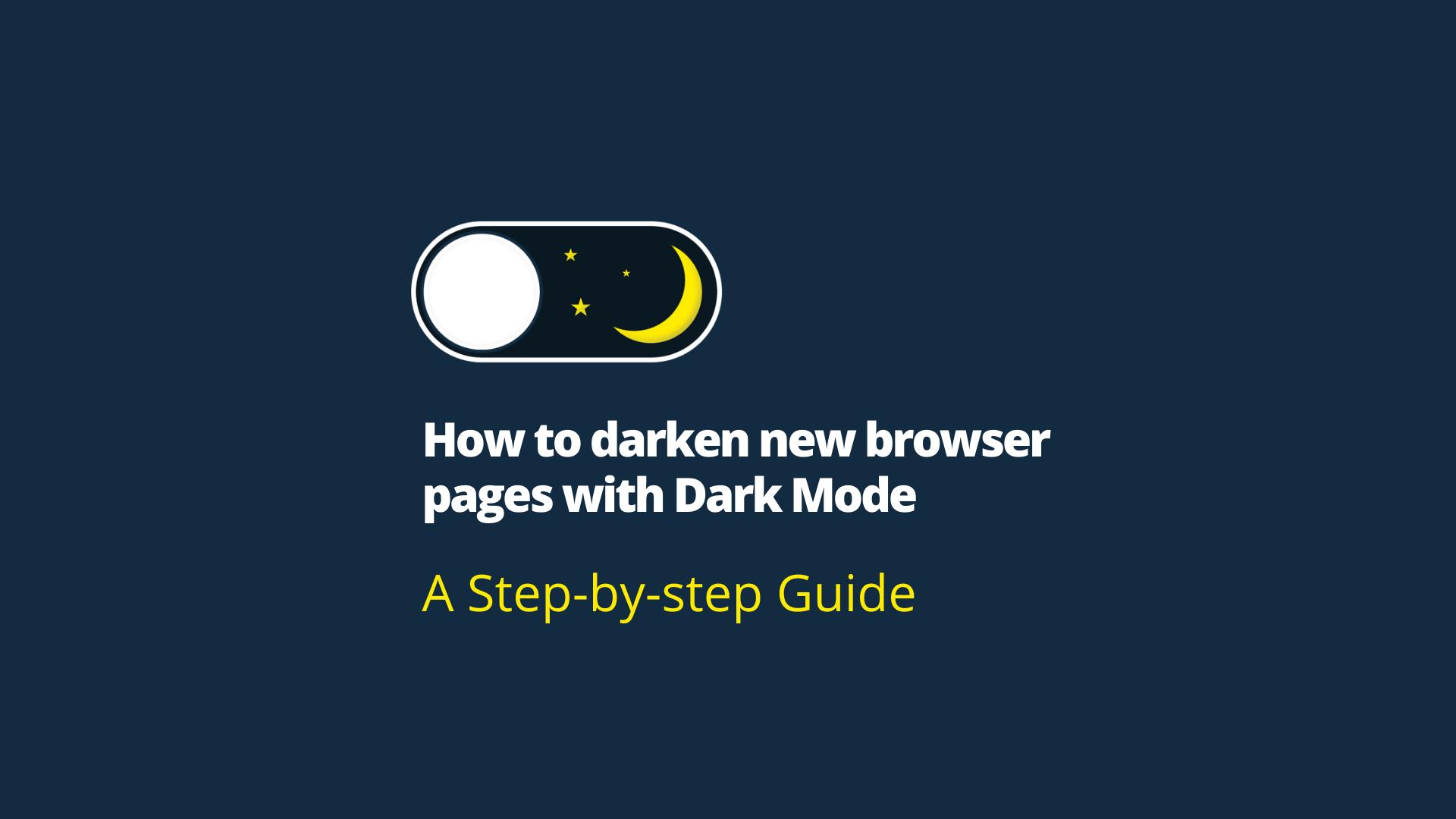 What is Dark Mode?
