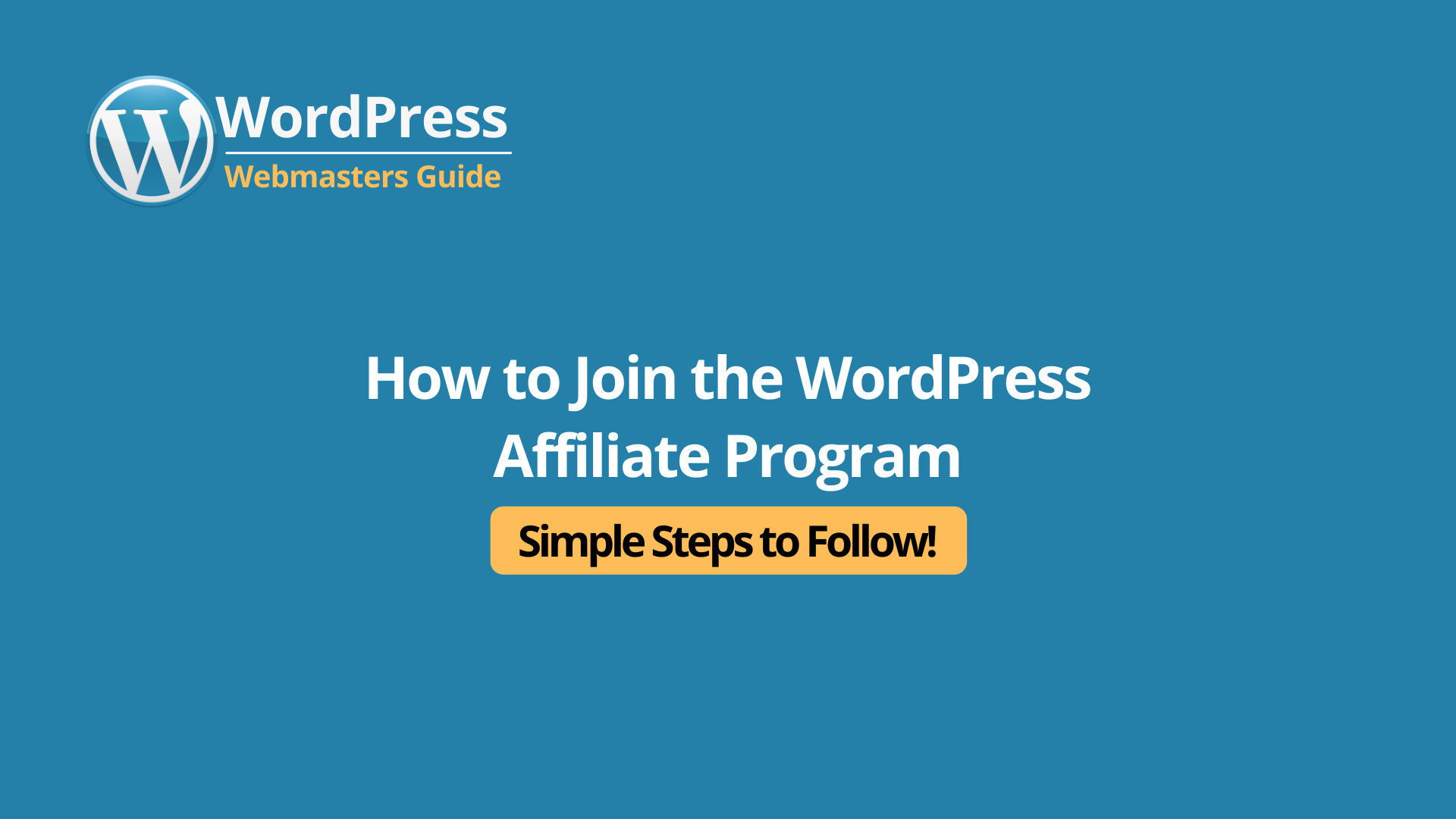 How to Join the WordPress Affiliate Program