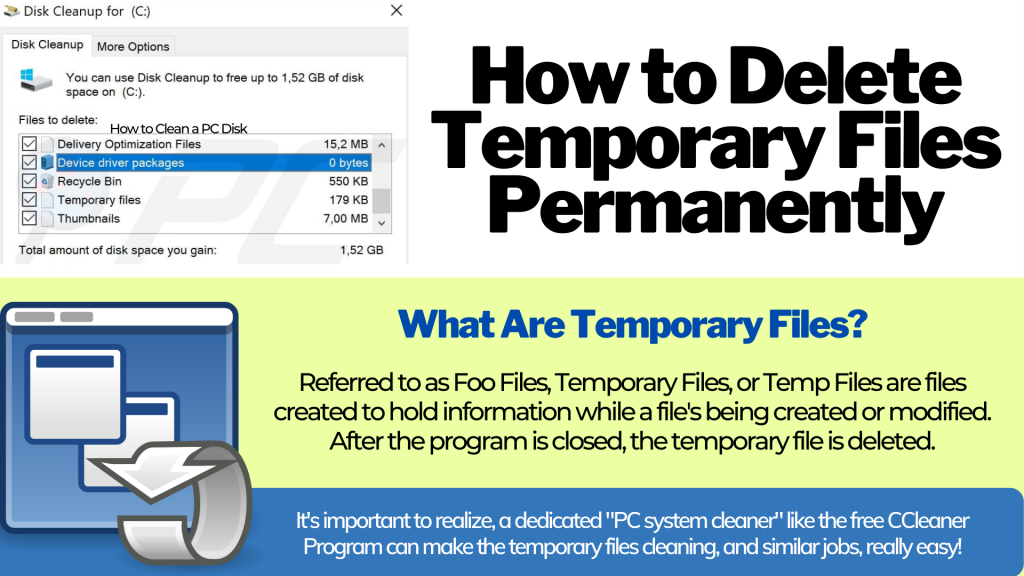 Temporary Files   What are they? & How are they deleted?