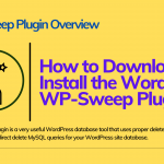 WP-Sweep Plugin | A Site Performance Enhancement Tool