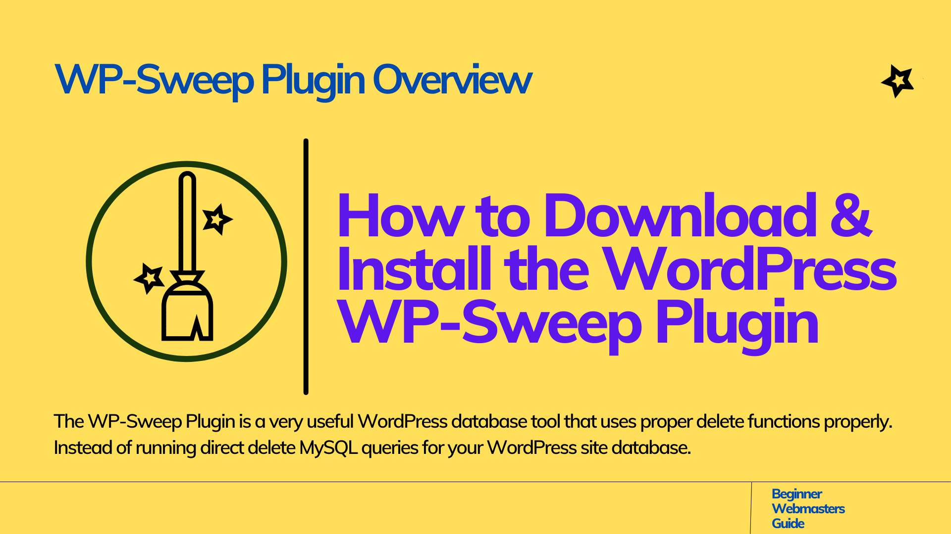 What is WP-Sweep Plugin?