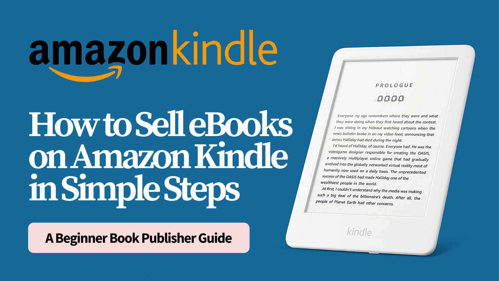 How to Sell eBooks on Amazon Kindle