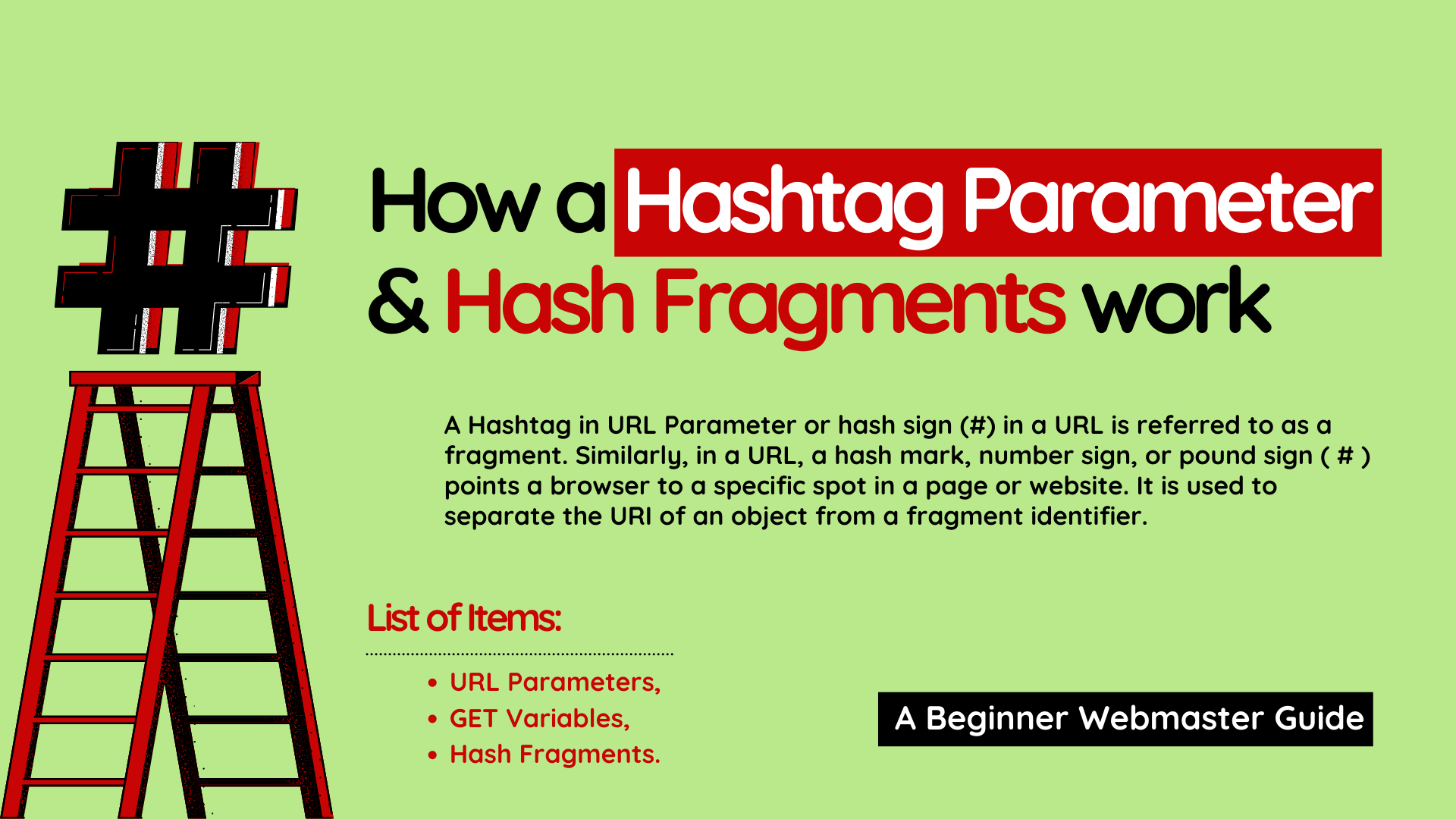 What does Hashtag in URL Parameter mean?