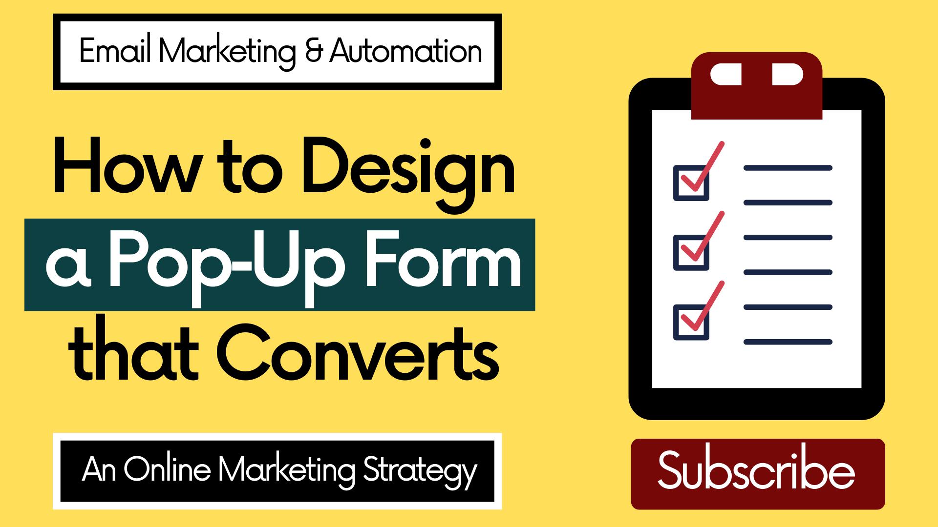 How to Design a Pop‑Up Form