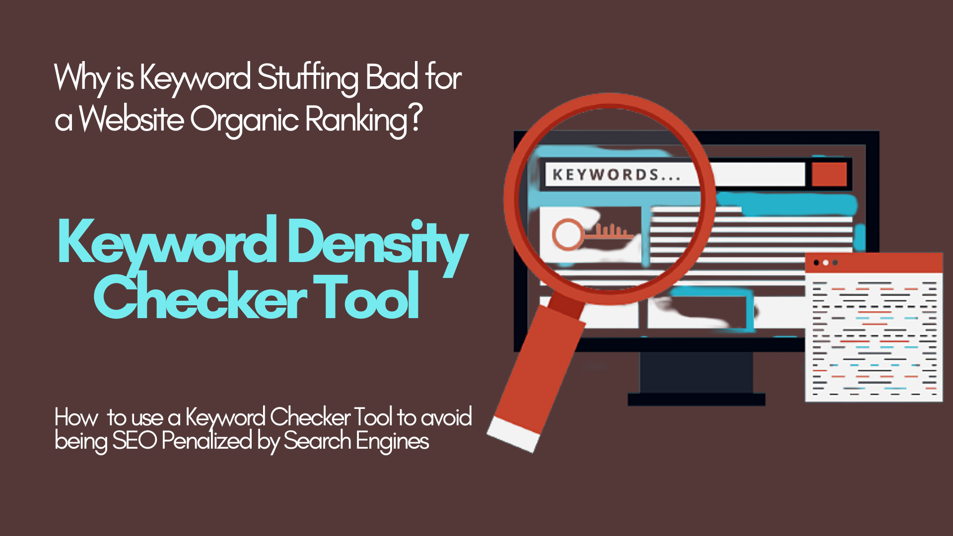 How Keyword Density Checker Tool Works