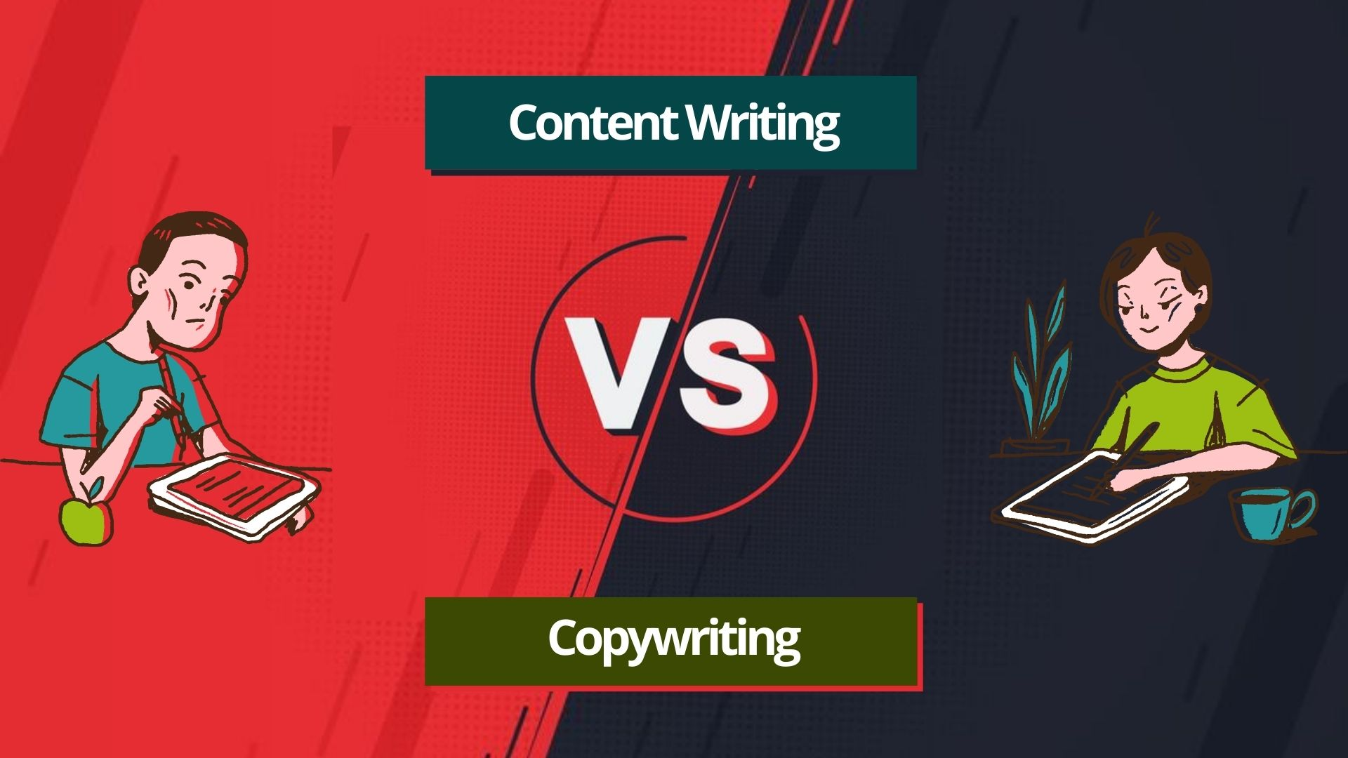 The difference between Content Writing vs. Copywriting
