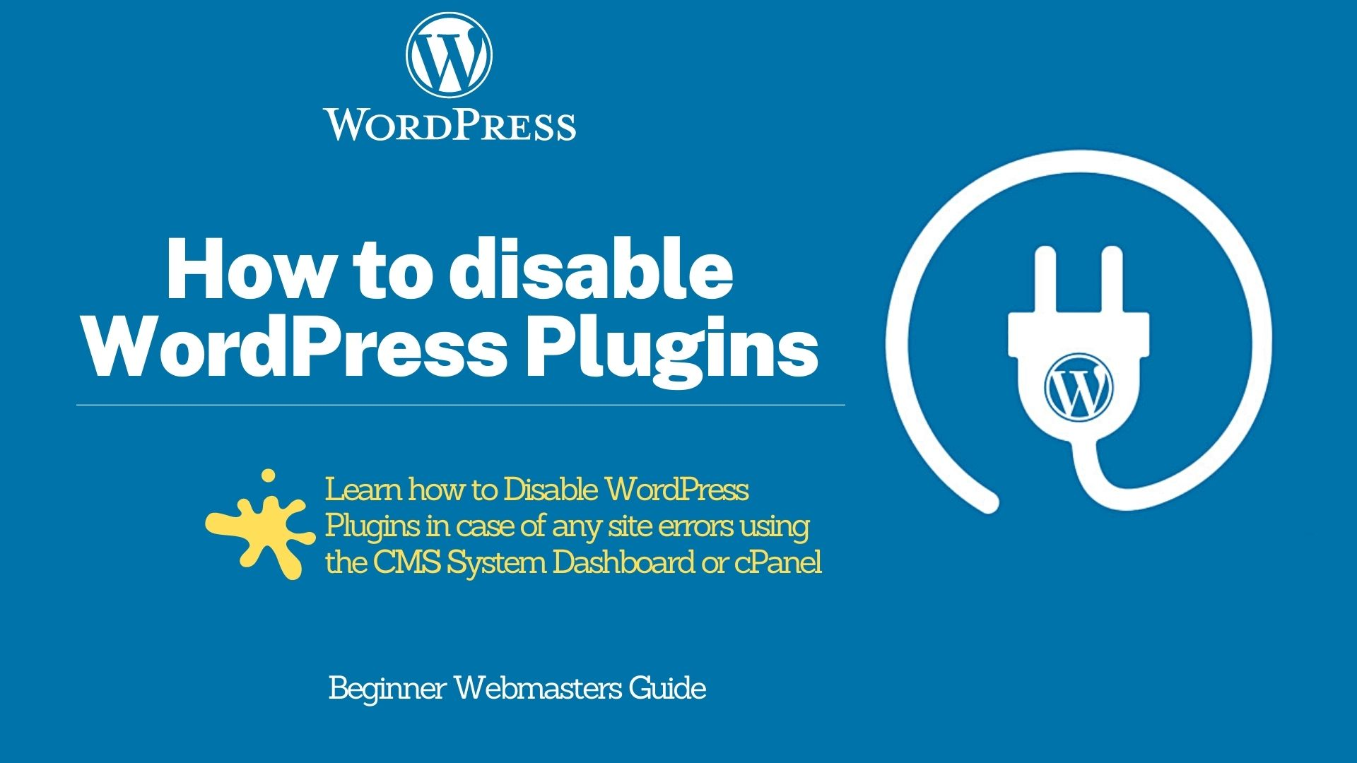 How to Disable WordPress Plugins