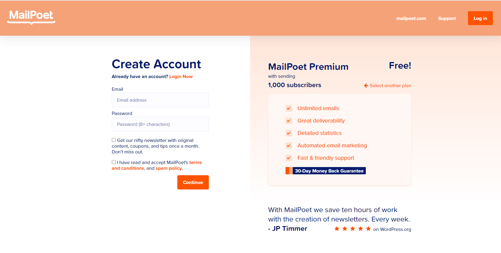How to Create a MailPoet Account