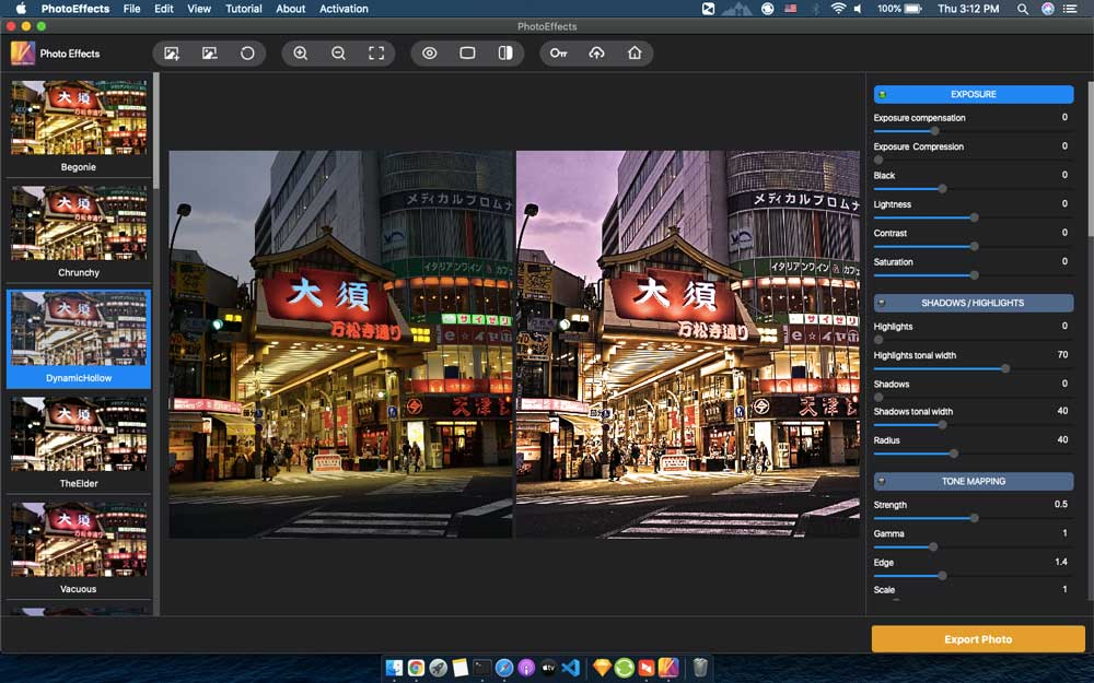 Screenshots of Photo Effects for Mac