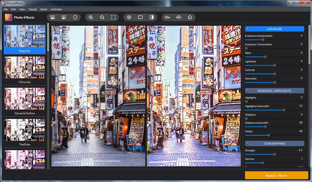 Screenshots of Photo Effects for Win